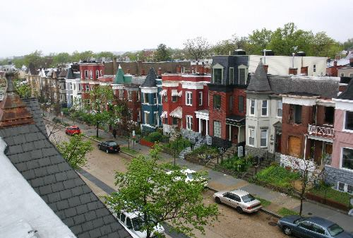 Colorful rowhouses in DC